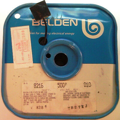 ( ~500 FT ) Belden 8216-010-BLK (26 Awg) Coaxial Cable 50 ohms RG-174/U