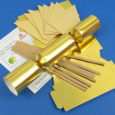 Gold Foil Make & Fill Your Own Cracker Making Craft Kits, Boards & Accessories