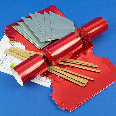 Red Foil Make & Fill Your Own Cracker Making Craft Kits, Boards & Accessories