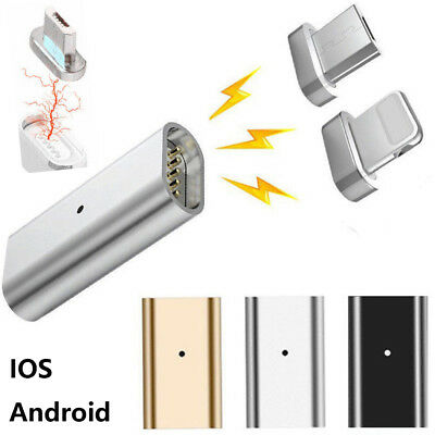 Magnetic Micro USB Charging Adapter Charger for Android Samsung iPhone X 8 8+ 7