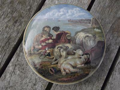 "19th Century PrattWare  Pot Lid PEACE No. 220 4"" Diameter"