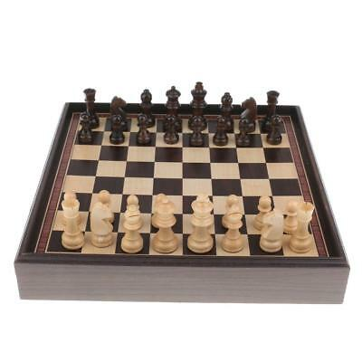 3 in 1 International Chess Game Set Chessboard Wooden Pieces for Competition