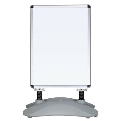 """Poster Stand Snap Frame Menu Board Water Sand Filled Base w/ Wheels 23.6""""x33.5"""""""