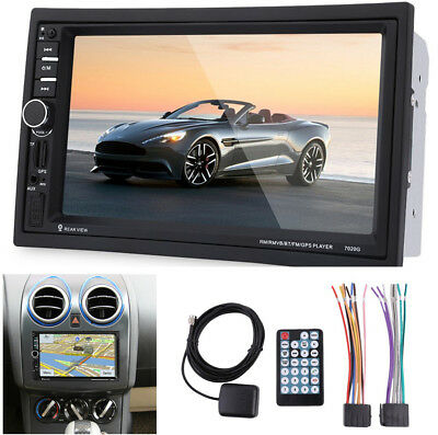 "7"" Touch Screen 2Din Car Audio Stereo HD MP5 Player Bluetooth w/ Australia Map"
