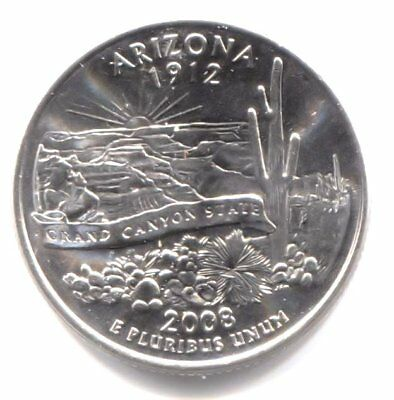 U.S. Arizona The Grand Canyon State Quarter 2008 D Coin Denver Mint