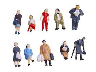 24pcs/set Painted Model Train People Figures Scale HO (1 to 87)