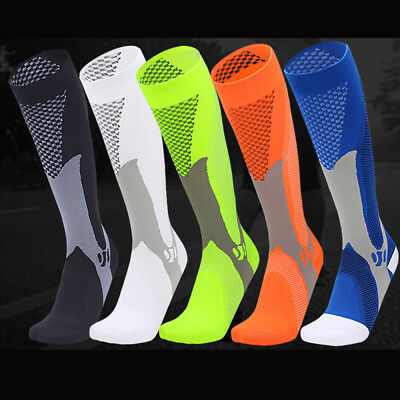 Copper Compression Socks Men Women Calf Shin Leg Running Workout Medical Sleeve