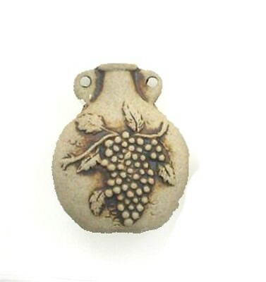 High Fired Ceramic Bunch of Grapes Bottle or Vessel