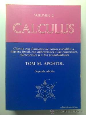 Cálculus 2. Tom M. Apostol. Editorial Reverté.