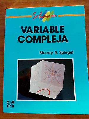VARIABLE COMPLEJA SERIE SCHAUM McGRAW-HILL  MURRAY SPIEGEL