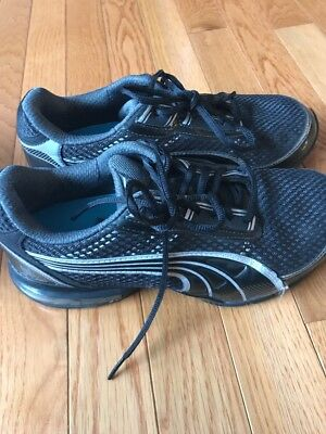 0846268059c339 Womens Puma 10 Cell Black   Gray Lace Up Athletic Running Sneakers - Size  7.5