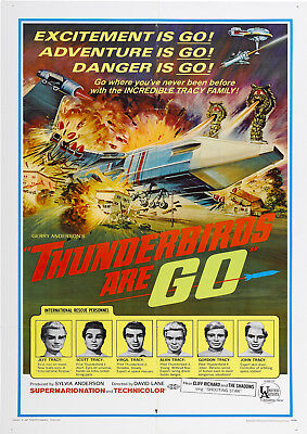 "Reproduction ""Thunderbirds Are Go!"" Poster, Wall Art, Vintage TV"