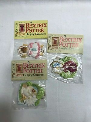 Vintage Beatrix Potter Hanging Ornaments - Set of 3 - NIP