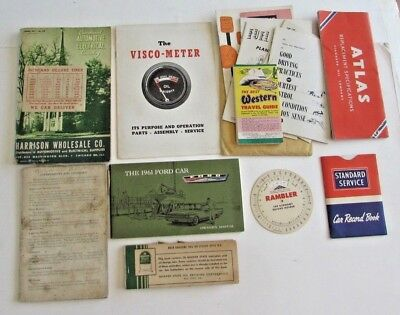 Lot Ford Manual 1942 Atlas Quaker State Oil Co Tires Automobile Parts Catalog ++
