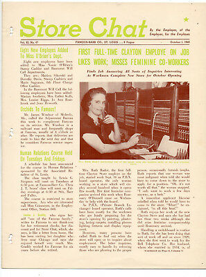 Famous & Barr Store Employee Magazine STORE CHAT 1948 OCTOBER 8 PGS