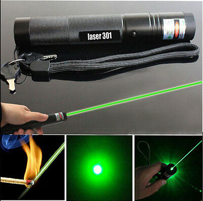 50 Miles Military Green 1MW 532NM Laser Pointer Lazer PPT Pen Visible Beam Burn