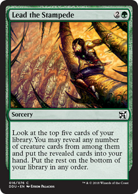 MTG 4x Lead the Stampede [English, Playset, Elves vs Inventors, Free P&P]