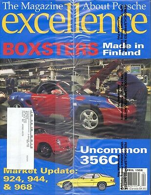 Porsche Excellence Magazine #76 April 1998 Boxsters Made in Finland *SEALED*