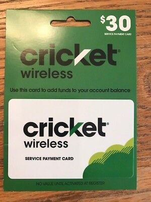 Cricket Wireless - $30 Service Payment Card