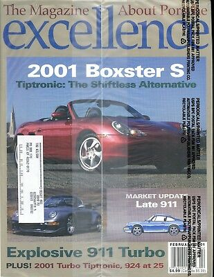 Porsche Excellence Magazine #99 February 2001 Boxster S, 911 Turbo *SEALED*