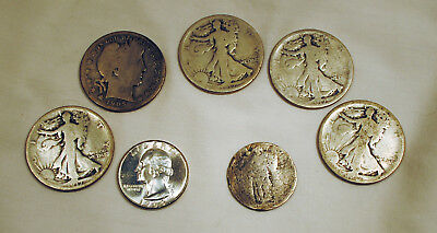 $3.00 US Silver Coin Lot Walkers Barber Washington Standing Liberty Lot A-2