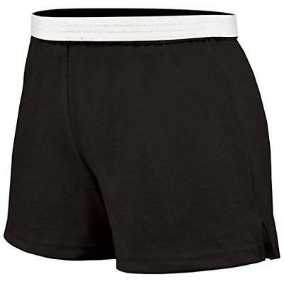 New Soffe BLACK Cotton Polyester SHORTS Cheer Gymnastic Adult Sizes