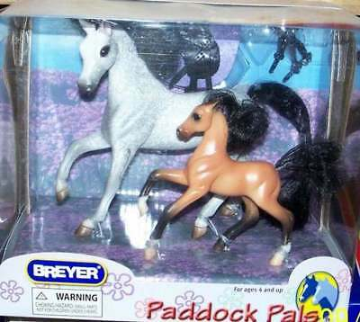 Breyer Collectable Model Horses Paddock Pals Flocked mane Mare and Foal