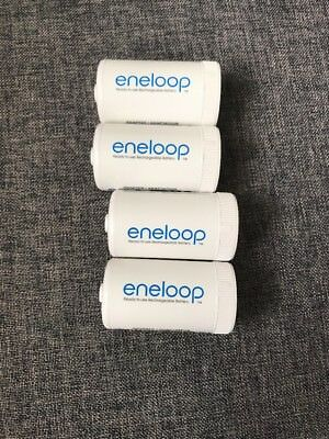 Eneloop Panasonic  Battery Adapters Converters Set Of 4 Size D NEWEST DESIGN