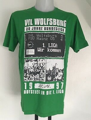 VfL WOLFSBURG GREEN COLLAGE TEE SHIRT OFFICIAL MERCHANDISE SIZE ADULTS XL NEW