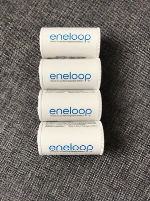 Eneloop Panasonic  Battery Adapters Converters Set Of 4 Size C NEWEST DESIGN