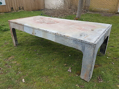 Reclaimed Large Steel Galvanised Water Tank Riveted 7ft+ Table Retro Hand Made