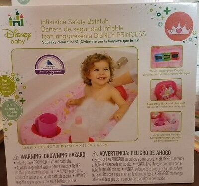 NEW TEMPERATURE DISPLAY Inflatable Infant Baby Toddler Bathtub ...