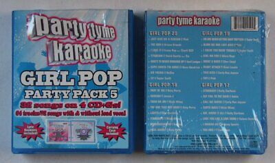 Party Tyme Karaoke - Girl Pop Party Pack 5 USA 4CD+G Box 2013