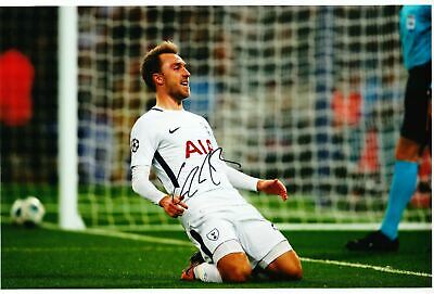 Christian Eriksen Signed 12X8 Photo SPURS Tottenham Hotspur AFTAL COA (1637)