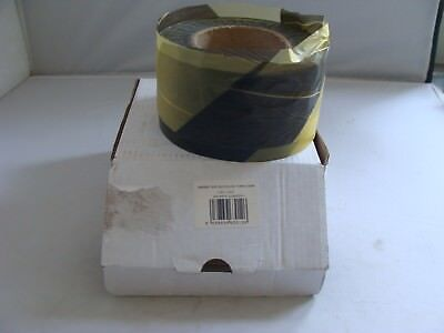 BARRIER TAPE 500M (X 75mm) - NON ADHESIVE - BLACK AND YELLOW - L@@K!!