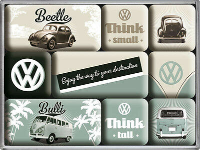 Magnet-Set - VW Think Tall & Small, 9-teilig