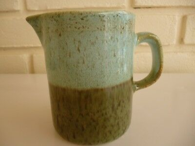 Iden Rye Pottery Milk Jug Two Tone Green Colour Vintage