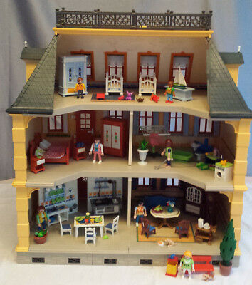 playmobil puppenhaus 5301 haus villa nostalgie 1900 herrenhaus mit beleuchtung eur 129 00. Black Bedroom Furniture Sets. Home Design Ideas