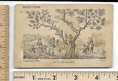 1881 Puzzle Hidden Image A CHESHIRE CAT Trade Card