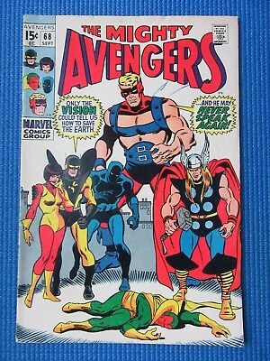 Avengers # 68 - (Fine) - Ultron-6, Vision, Giant-Man, Thor,wasp, Black Panther