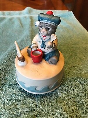 Schmid KITTY CUCUMBER  MUSIC BOX - Plays Childrens Marching Song-1985 Shackman
