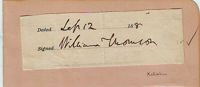 William Thompson Lord Kelvin Autograph 1880 Navigation Thermodynamic Compasses