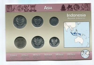 Indonesia Republik Indonesia Coin Set 6 Coins in  Original Littleton Holder