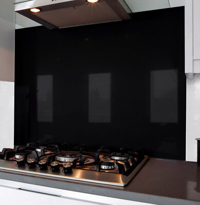 Carbon Black Glass Splash Back 700 x 745 x 6mm