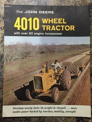 Rare 1962 JOHN DEERE 4010 Wheel Tractor Dealer Catalog Sales Brochure Pamphlet