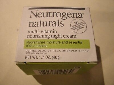 Neutrogena Naturals Multi-Vitamin Nourishing Night Cream 1.7 oz. FREE SHIPPING