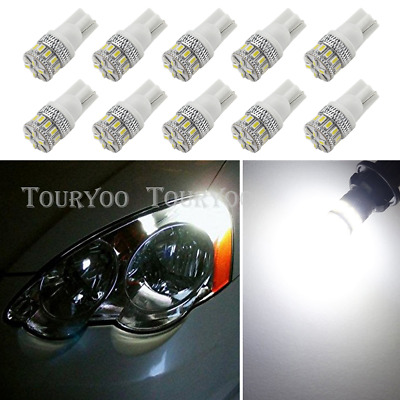 10x T10 2825 W5W 168 921 194 White 18SMD LED Interior Light Bulbs for Chevrolet