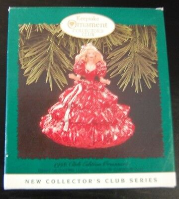 Hallmark Keepsake Collectors Club 1996 Holiday Barbie Doll Ornament 1st edition
