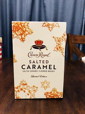 1 Crown Royal Salted Caramel Limited Edition Complete Collectors Sealed Box