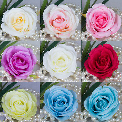 10-Pack Artificial Silk Rose Flower Heads for Wedding, Mothers Day, Birthday DIY